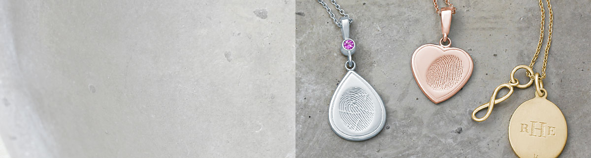 Memorial Fingerprint Charm Keepsake