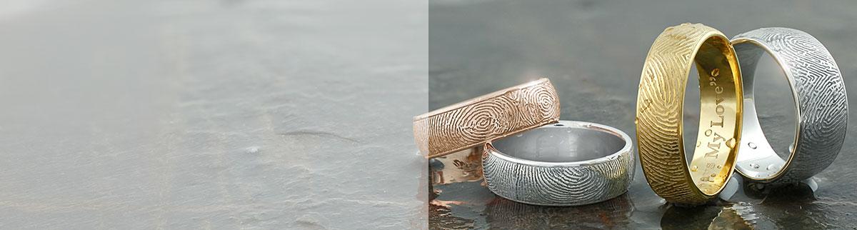 Half-Round Fingerprint Rings