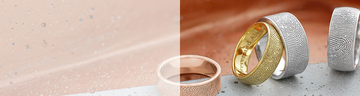 Personalized Fingerprint Rings