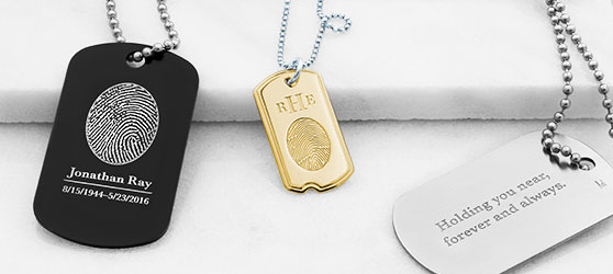 Fingerprint Dog Tags