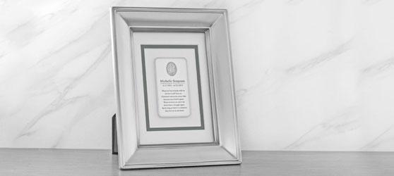 Framed Fingerprint Memorial